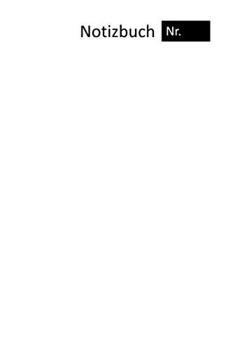 Notizbuch Nr. in weiß (A5, Karo 200 Seiten weiß, Softcover matt) für organisierten Schreibtisch, Skizzenbuch, Ideenbuch, dickes Notizheft,Schulheft (karo Notizbuch Nr., Band 1)