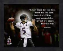 Joe Flacco Baltimore Ravens Pro Zitat Foto (Größe: 30,5 x 38,1 cm) gerahmt