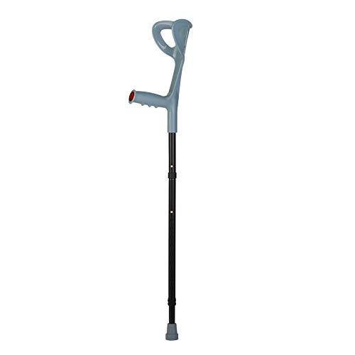 Lightweight Foldable Forearm Crutch, Aluminum Walking Stick,Height Adjustable, Ergonomic Handle with Comfortable Grip 2ZG-0IGM (Black)