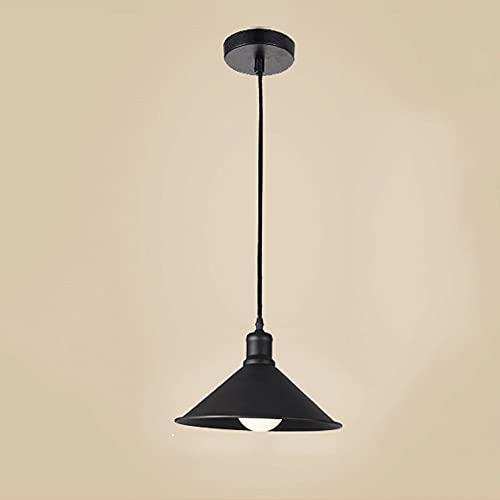 CHENBAI Lámpara de araña retro con tapa de olla de hierro forjado, lámpara colgante de una sola cabeza de granja, lámpara colgante ajustable de cadena colgante de luz de suspensión E27, para loft, res