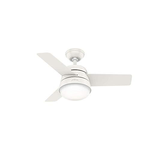 HUNTER 59301 Finley Indoor mit LED-Licht mit Pull Chain Control, 36, Weiß