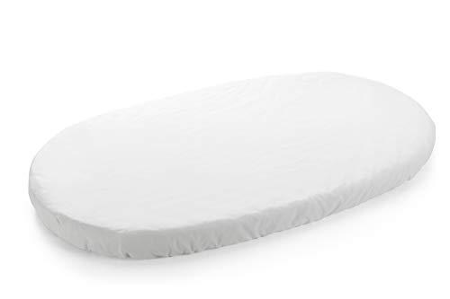 Stokke Sleepi Spannbettlaken – Spannbettuch für die Matratze des Sleepi Betts – Mittlere Größe – Farbe: White
