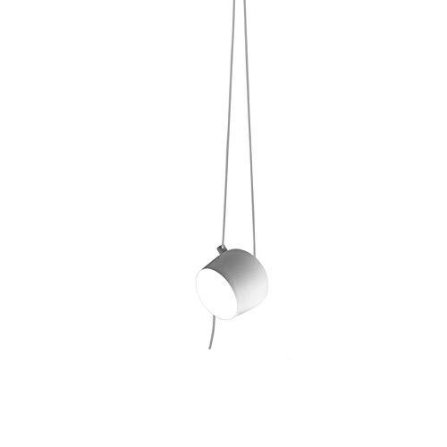Flos AIM SMALL LED mit Kabel und Stecker Lampe Pendelleuchte Deckenaufhängung by Bouroullec - Weiß