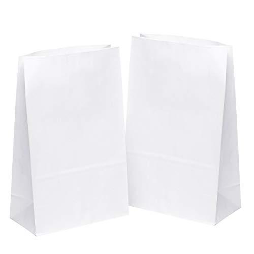 kgpack 50 STK. Papiertüten klein 31 x 19 x 10 cm Bodenbeutel, auch, Obstbeutel, Mitgebseltüten, Butterbrottüten, Süßigkeiten, Geschenkverpackung, Gastgeschenke Tüten aus Weiß Kraft Geschenkpapier