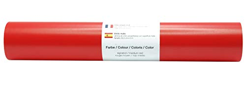 Vinyl Folie selbstklebend 3m versch. Farben Folie Rot-Matt