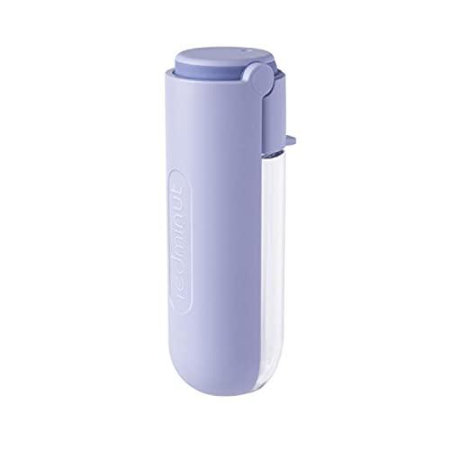 XXIXXV Botella de agua plegable para perros Botella de agua para mascotas Botella de agua portátil para perros al aire libre Viaje Beber Bowl Plegable Perros Agua Bowl 420ml Violeta