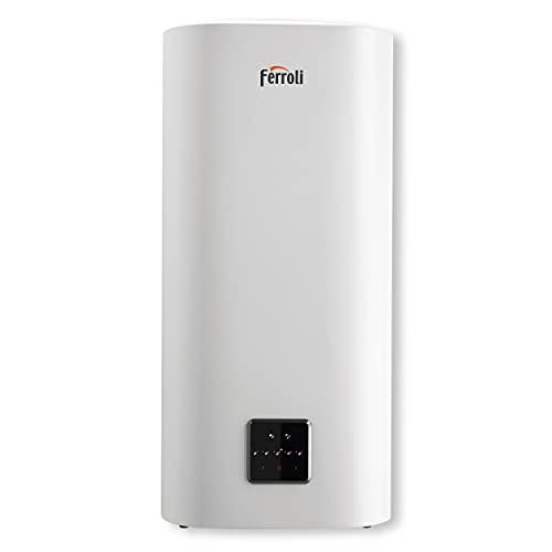 Ferroli TITANO TWIN Scaldacqua elettrici slim compatto a doppio serbatoio con wifi - wireless - wi-fi (50 Litri)