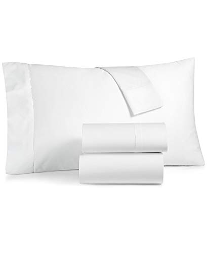 Charter Club Damask Solid Queen 4 Pieces Sheet Set, 550 Thread Count 100% Supima Cotton White