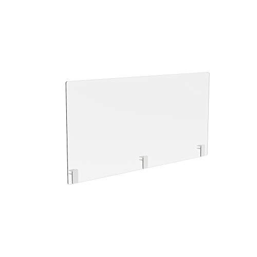 Genomskinlig skrivbordsdelare i plast Sneeze Guard Skyddsskärm (W1200 x H 600 mm)