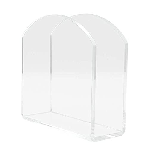JklausTap Servilletero vertical de plástico transparente, dispensador de pañuelos para el hogar, restaurante, mesa de comedor, 12 x 12 x 5 cm