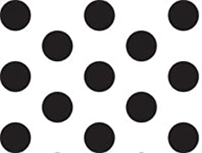 Brand New Black and White Polka Dot Tissue Paper - 20 Inch x 30 Inch - 24 XL Sheets