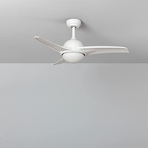 Ventilador de Techo LED Aran Blanco 107cm Motor DC Blanco