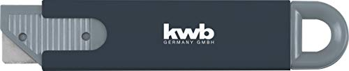 kwb Mini Sicherheits-Messer im Taschenformat, extra scharf, Cutter mit automatischem Klingen-Rückzug, 4-seitig nutzbare Klinge, schwarz