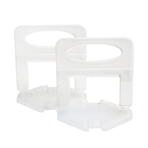 Dingyue Sistema de nivelación de azulejos Separadores Clips Cuñas reutilizables para nivelar porcelana cerámica mármol