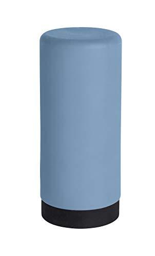WENKO Spülmittelspender Easy Squeez-e Blau - Seifenspender Fassungsvermögen: 0.25 l, Silikon, 6 x 14 x 6 cm, Blau
