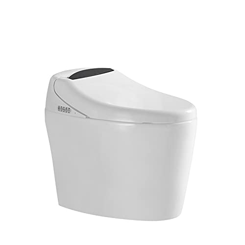 Wailiy Luxury Smart Bidet Seat Toilet 2021 New Series Elongated One Piece Smart Toilet w/Integrated Dual Flush with Remote Control|Soft Closing Seat|Quick Drying|Hot Type|Automatic Flushing (IWA021)