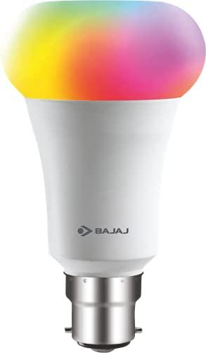 Bajaj 9W WiFi Smart LED Bulb (16 Million Colors) (Compatible with Amazon and Google Alexa)