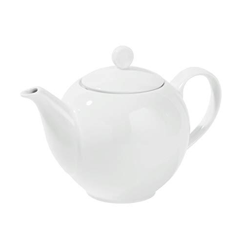 BUTLERS Puro Teekanne 1300 ml aus Qualitätsporzellan - Weiße Porzellankanne mit Henkel - Hochwertiges Teeservice