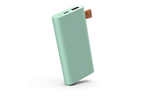 Fresh 'n Rebel Powerbank USB-C | Draagbare oplader/externe accu - 2-poorts USB-C & USB, 18000 mAh, groen (Misty mint)