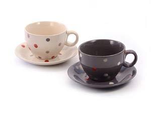 Cha Cult Cappuccino-Tasse und Untere Tommaso Keramik, 2-Fach 0,25 l = Zwei Stück