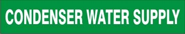 Condenser Water Supply – Pipe 18 Marker Adhesive Vinyl- - Industry Oakland Mall No. 1