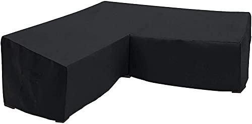 HTHJA Oxford Funda Protectora para Mesa de Comedor,,Cubierta de Muebles seccionales para Exteriores, Cubierta de sofá de Esquina, Cubierta Antipolvo270 * 200 * 82cm + 155x95x68cm