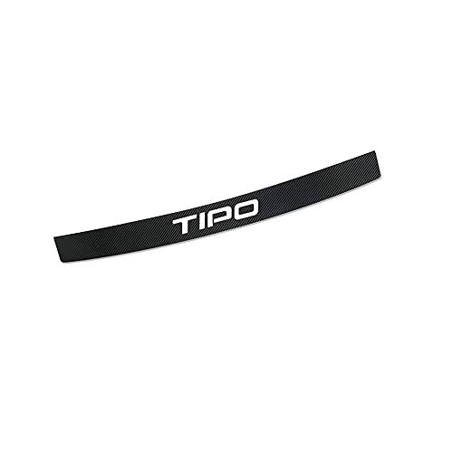 CAXCLPT Coche Protección Fibra Carbon Parachoques, para Fiat Tipo Umbral Pegatinas Tira de Protección Maletero Antirrayas Decorativas Accessories