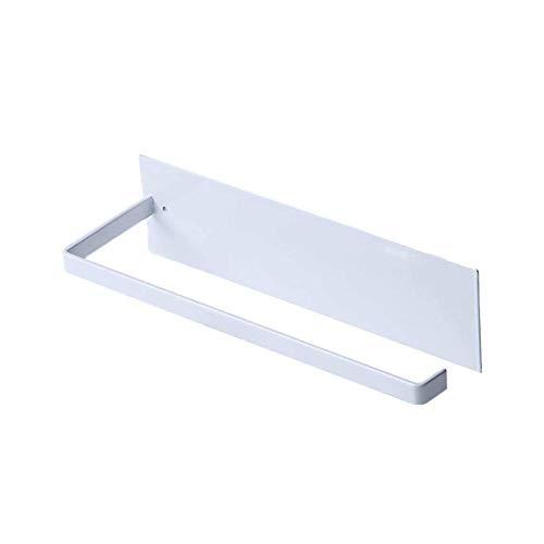 YuuHeeER Paper Towel Holder Under Cabinet Hanging for Bathroom Kitchen No Drilling White 1 Pack