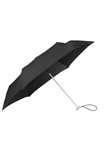 SAMSONITE Alu Drop S - 3 Section Manual Mini Flat Regenschirm, 23 cm, Black