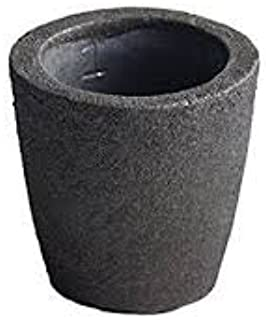 #1-2 KG Premium Black Foundry Clay Graphite Crucibles Cup Furnace Torch Melting Casting Refining for Gold. Also Great for Silver, Copper, Brass, Aluminum