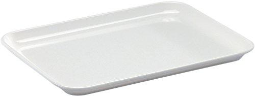 4 x Thekenplatten/Auslegeschale / Thekenschale, Melamin weiß | Gr. 24 cm x 18 cm