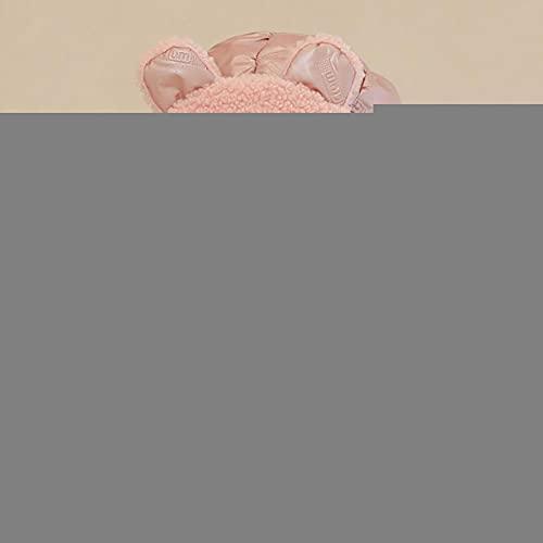 UKKO Sombrero de Invierno Mujer Invierno Niños Muchacha Muchacha Gruesa Impermeable Oreja Protectora Sombrero Bufanda Sistema para Niños Un Bonete Cálido del Casquillo del Bebé-Pink,3-8 Years