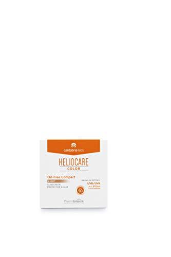 Heliocare Color Compacto Oil-Free SPF 50 - Fotoprotección Avanzada con Color, Antioxidante, Formato Compacto, Acabado Mate, para Pieles Mixtas o Grasas, Light, 10gr
