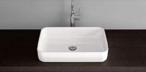 Bette Art Countertop wastafel zonder kraangat, A181 600 x 400 mm, Kleur: Wit - A181-000