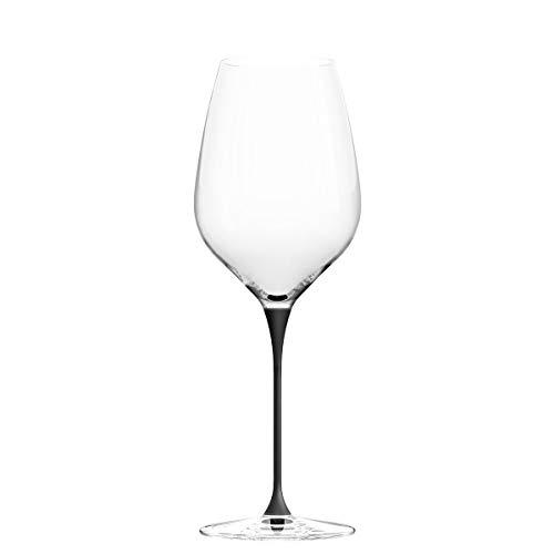 CHEER MODA Italienische Kristall Lava Weingläser, Premium Champange Gläser, Noble Rotweinkugel, Anlass (SCHWARZ)