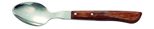 Arcos Couteaux de Table - Cuillère à Dessert - Acier Inoxydable 18/10 et 150 mm - Manche Bois Comprimé Couleur Brun