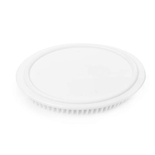Umbra 020905-660 Grassy Soap Dish Container for Bathroom - White Oval Molded Rubber Soap Bar Holder For Bath Sink - Grassy Surface Allows Water to Drain So Bar Soaps Dry Faster and Last Longer