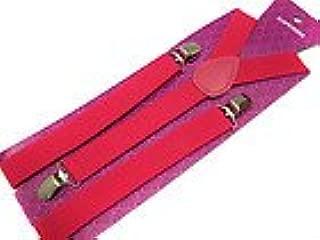 Hot Pink Suspenders Gothic Emo Punk Rocker Unisex