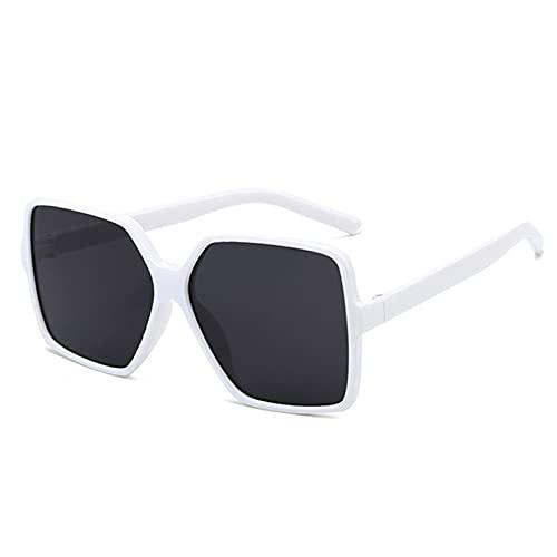 SASCD Marco Sombras de protección UV de Las Lentes de Gran tamaño de la Moda Gafas de Sol Retro Cuadrados vidrios de Sol Grandes for Mujeres y Hombres oculos okulary (Color : 1Pc White)