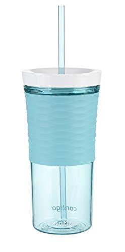 Contigo Trinkbecher Shake & Go Becher Autoclose, Plastikbecher mit Trinkhalm und Deckel, große BPA-freie Trinkflasche, ideal für Eiskaffee, Wasser, Smoothies und Shakes, 530ml