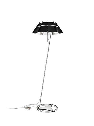 Slamp acryl vloerlamp/Chapeau in zwart en zilver | Manufaktur Made in Italy | Moderne vloerlamp zwart zilver | E14 LED