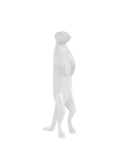 Present Time - Statue Suricate Blanc Origami