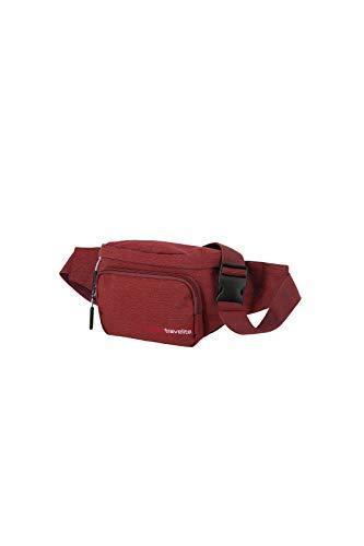 travelite Handgepäck Bauchtasche, Gepäck Serie KICK OFF: Praktische Gürteltasche für Urlaub und Sport, 006919-10, 30 cm, 5 Liter, rot