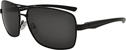 SQUAD Gafas de sol Polarizadas de aluminio adultos hombres y mujeres modelo casual clásico cuadrado protección 100% UV400 Doble puente Metálico