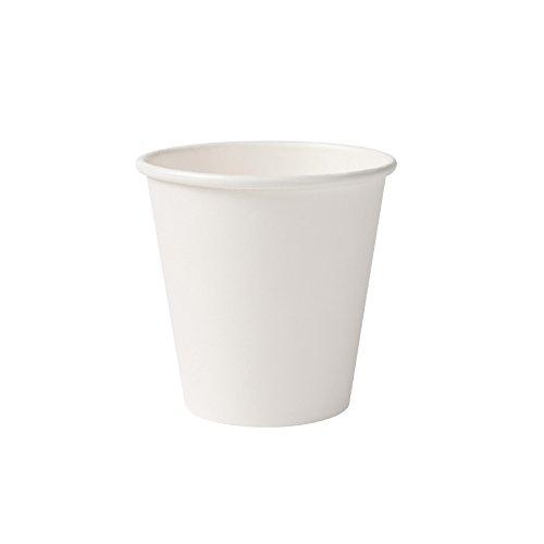 BIOZOYG Bio Pappbecher I Einweggeschirr Trinkbecher Papierbecher kompostierbare und biologisch abbaubare Becher I weiße, unbedruckte, umweltfreundliche Kaffeebecher 1000 Stück 150ml 6oz