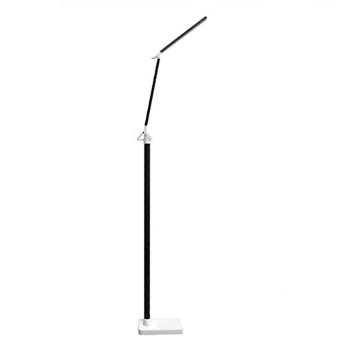 YANQING Duurzame Vloerlamp LED Moderne Woonkamer Slaapkamer Nachtkastje Studie Leren Oog Lezen Licht Touch Vijf-speed Dimmen Toning (Kleur : Zwart), Kleur: Zwart