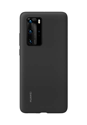 Huawei P40 Pro - Funda de Silicona para teléfono móvil, Accesorio Original, Color Negro