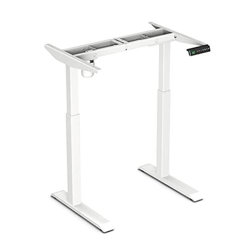 Worktrainer Escritorio de pie pequeño - StudyDesk (estructura de color blanco / sin tablero de mesa)