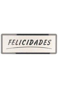 Rollo 300 etiquetas felicidades stampling 50 x 18, plata