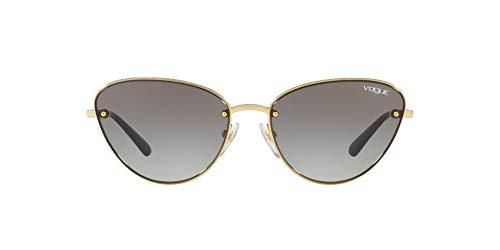 Vogue Eyewear Women's VO4111S Metal Cat Eye Sunglasses, Gold/Grey Gradient, 57 mm
